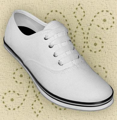 Aris Allen canvas sneaker vit