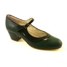 Salon Correa grön/svart