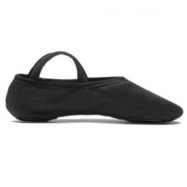 Rumpf balettskor i stretchcanvas side