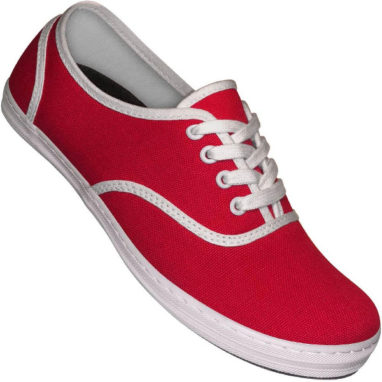 Aris Allen canvas sneaker röd/vit