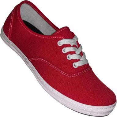 Aris Allen canvas sneaker röd