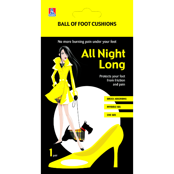 All Night Long foot cushions